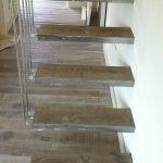 escalera madera maciza